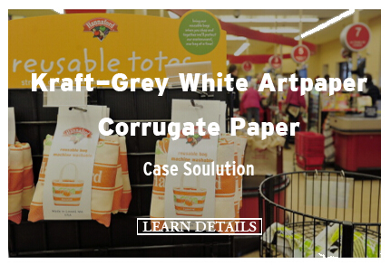 Kraft-Grey White Artpaper Corrugate Paper Case Soulution