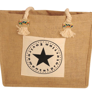 Eco material drawstring jute bag