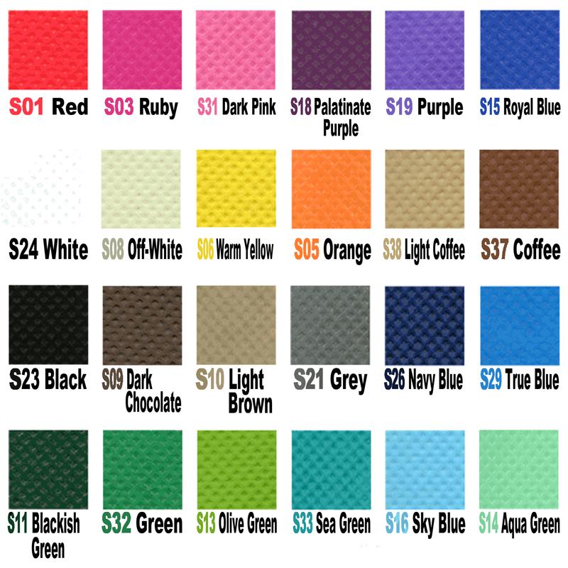 Non-woven colour Chart