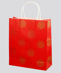 Accessories-twisted handle for kraft paper bag