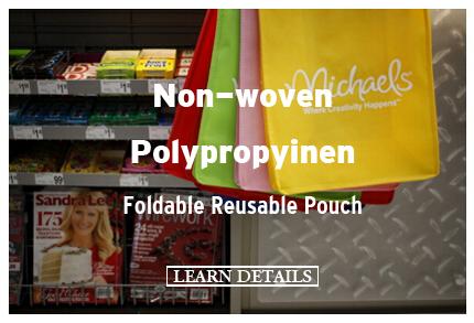 Non-woven Polypropyinen Foldable Reusable Pouch