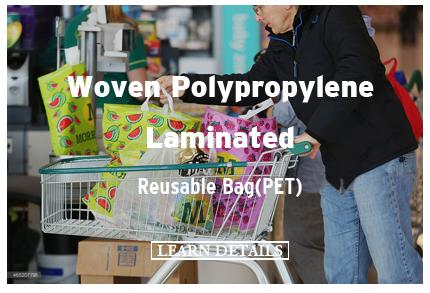 Woven Polypropylene Laminated Reusable Bag(PET)