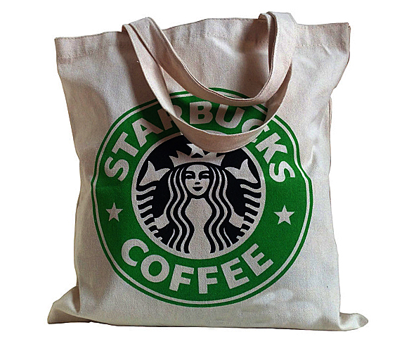 Natural recycled shopping cotton bag